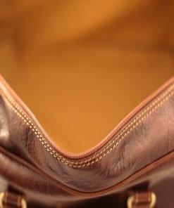 leder reisekoffer mit doppeltem boden aus Leder fantini pelletteria innen reisetasche