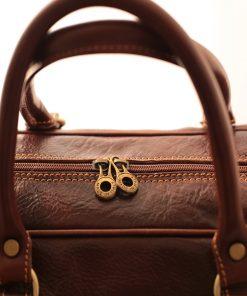 leder reisekoffer mit doppeltem boden aus Leder griff rucksack fantini pelletteria