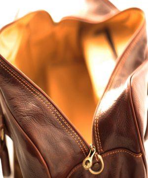 leder reisekoffer mit doppeltem boden aus Leder natürliches gemüse