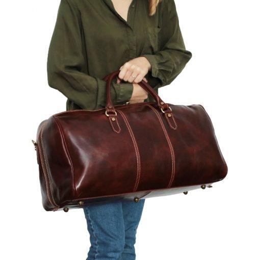 leder reisetaschen reisetaschen leder braun Outfit Mädchen