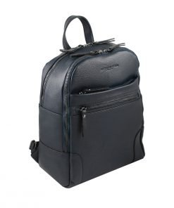 leder rucksack marineblau made in italy