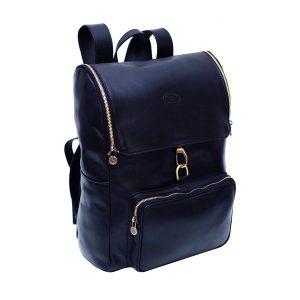 leder rucksack mit haken verschluss blau fantini pelletteria