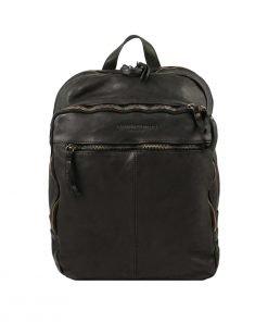 leder rucksack schwarz