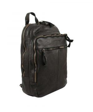 leder rucksack schwarz Laptopfach Leder City rucksack