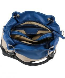 lederhandtasche blau fantini pelletteria