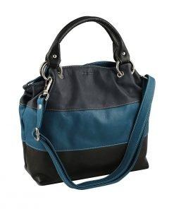 lederhandtasche dunkelblau made in italy