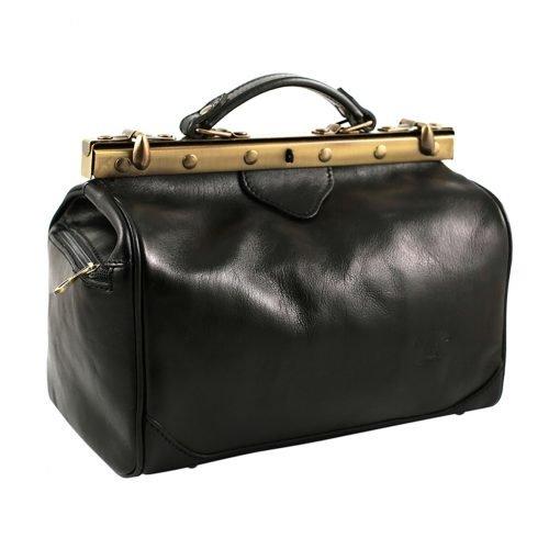 ledertasche arzttasche umhängetasche schwarz tasche schwarz fantini pelletteria