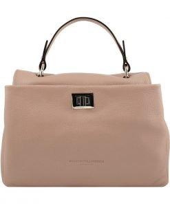 pink ledertasche shopper