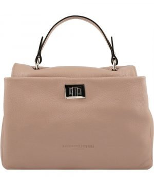 pink ledertasche shopper