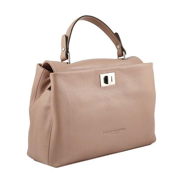 pink ledertasche shopper fantini pelletteria
