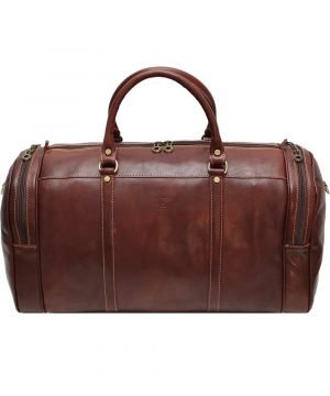 reisetaschen aus leder braun mit rollen braun