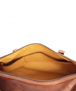 reisetaschen aus leder braun mit rollen braun fantini pelletteria