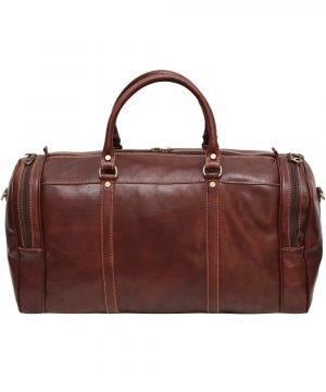 reisetaschen aus leder braun mit rollen braun made in italy
