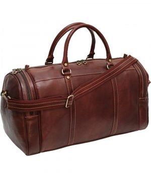 reisetaschen aus leder braun mit rollen ledertasche handgepäck