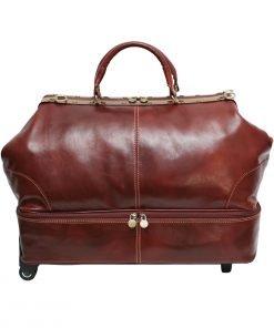 weekender trolley reisetasche ledertasche braun