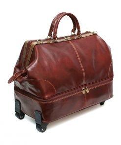 weekender trolley reisetasche ledertasche braun modellbröffnung old america
