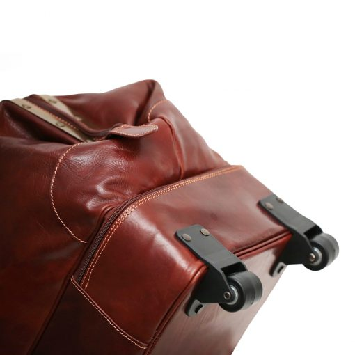 weekender trolley reisetasche ledertasche braun leder ledertasche