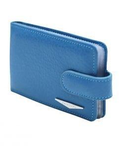 blau kartenhalter aus leder fantini