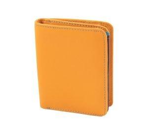 damen brieftasche aus leder mit ausweisfach gelb made in italy
