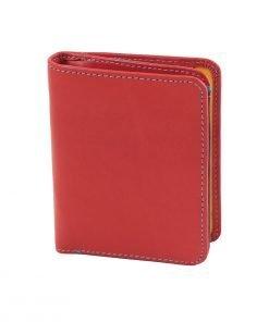 damen brieftasche aus leder mit ausweisfach rot made in italy