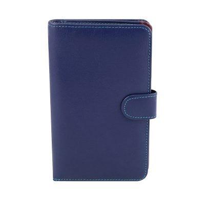 dunkelblau leder frau brieftasche fantini made in italy