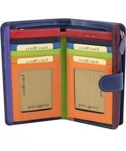 dunkelblau leder frau brieftasche kreditkarteninhaber