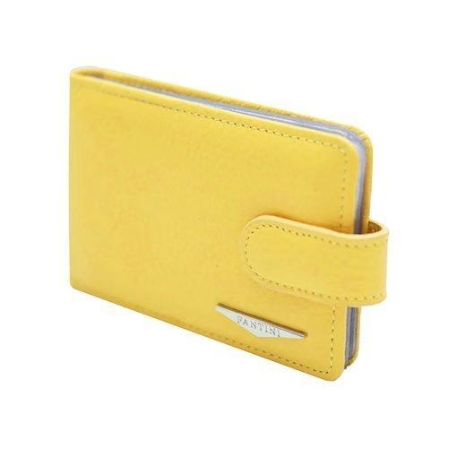 gelb kartenhalter aus leder fantini
