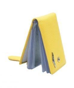 gelb kartenhalter aus leder made in italy