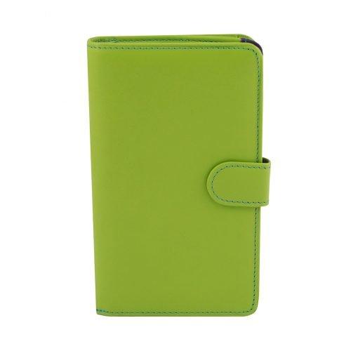 grün leder frau brieftasche fantini made in italy