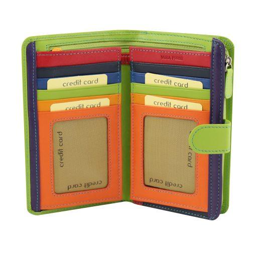 grün leder frau brieftasche kreditkarteninhaber
