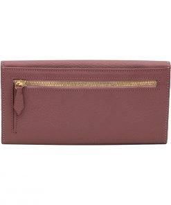 große damen leder geldbörse rosa reißverschluss brieftasche