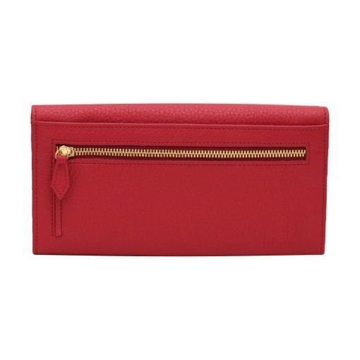 große damen leder geldbörse rot reißverschluss brieftasche