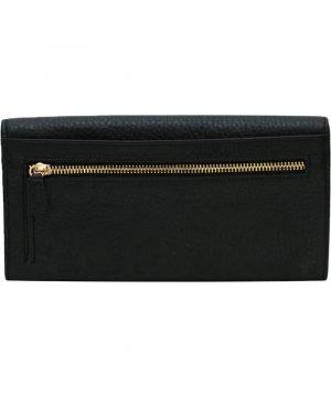 große damen leder geldbörse schwarz schwarz reißverschluss brieftasche