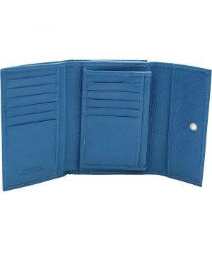 kleine damen leder geldbörse blau kreditkarteninhaber dokument