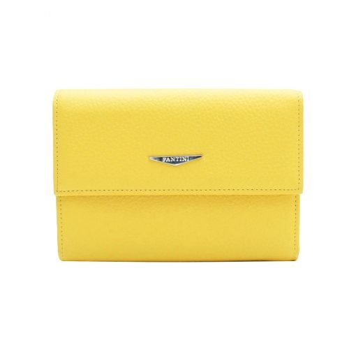 kleine damen leder geldbörse gelb