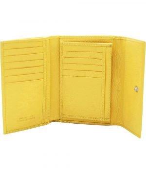 kleine damen leder geldbörse gelb kreditkarteninhaber dokument