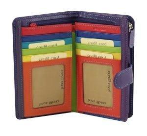 lila leder frau brieftasche kreditkarteninhaber