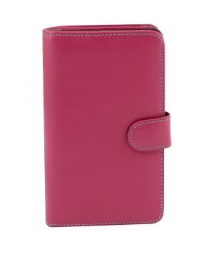 rosa leder frau brieftasche fantini made in italy
