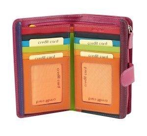 rosa leder frau brieftasche kreditkarteninhaber