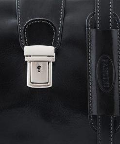 arzttasche leder schwarz fantini