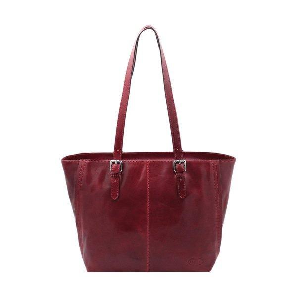 italienische handtaschen leder rot