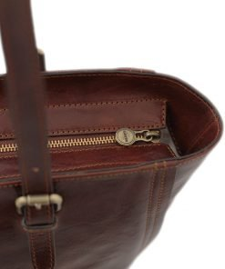 italienische handtaschen leder braun lederwaren