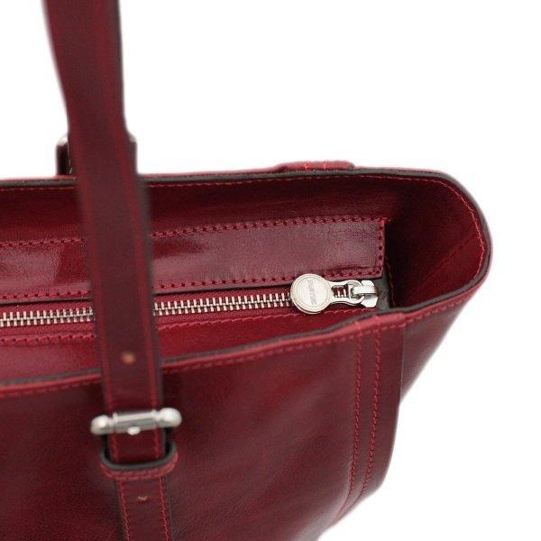 italienische handtaschen leder rot lederwaren