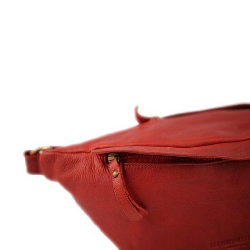 rote herren leder gürteltasche fantini