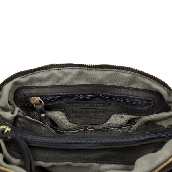 schultertasche leder made in italy