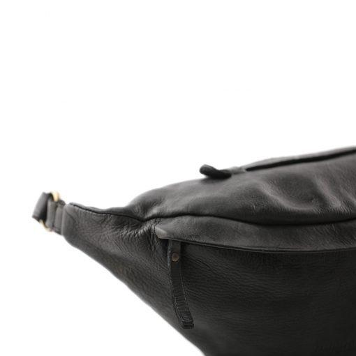 schwarz herren leder gürteltasche fantini