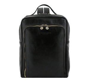 rucksack leder schwarz tuscany