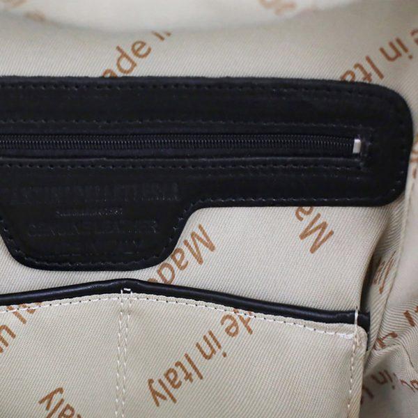 rucksack leder schwarz tuscany Italienische Mode