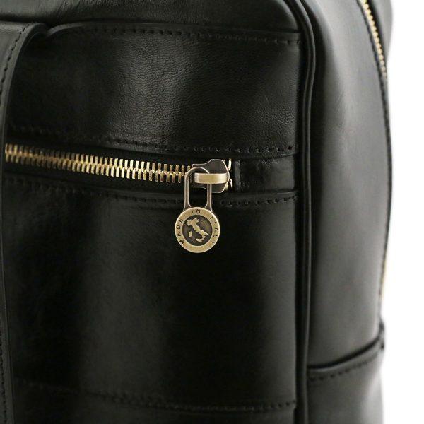 rucksack leder schwarz tuscany fantini lederwaren