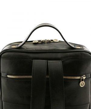 rucksack leder schwarz tuscany gesäßtasche